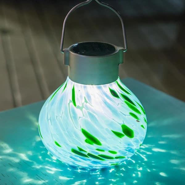 Allsop Outdoor 6 5 In Solar Tea Mint, Allsop Home And Garden Solar Tea Lantern
