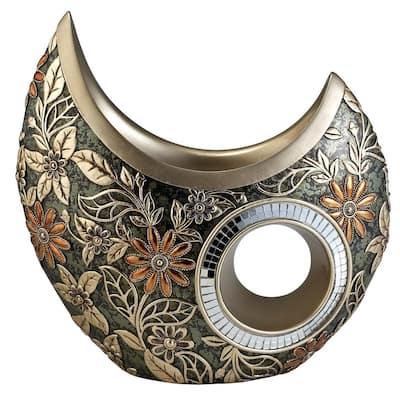 Chrysanthemum Green Polyresin Decorative Vase