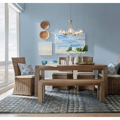 """45 in. x 30 in. """"Miami Bay"""" by Oliver Gal Printed Framed Canvas Wall Art"""