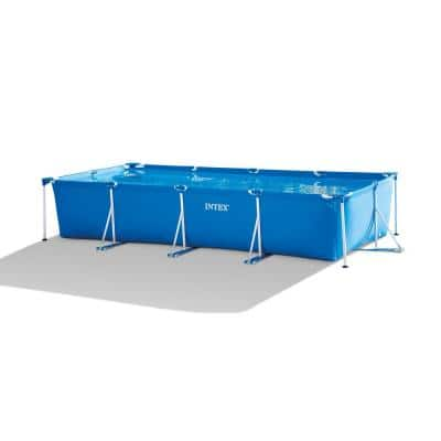 14.75 ft. x 7.3 ft. x 33 in. Rectangular Frame Above Ground Swimming Pool, Blue