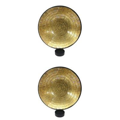 Gold Metal Wall Sconce (Set of 2)