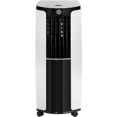 8,000 BTU (5,000 BTU DOE) Portable Air Conditioner with Remote Control for a Room up to 150 sq. ft. in White and Black