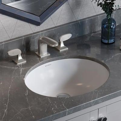 Monaco 16.5 in. Oval Under-Mount Bathroom Sink in White
