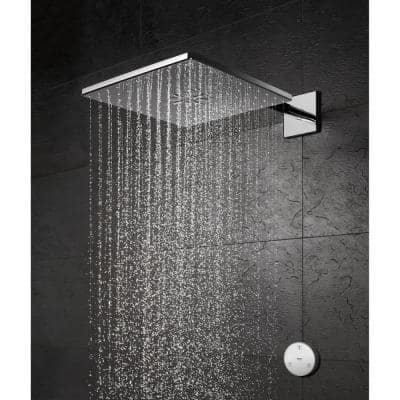 Rain shower Smartconnect 310 2-Spray with 1.75 GPM 12 in. Wall Mount Fixed Shower Head with Remote in StarLight Chrome