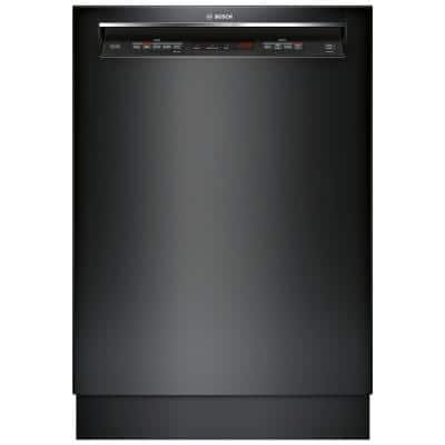 300 Series 24 in. Black Front Control Tall Tub Dishwasher with Stainless Steel Tub and 3rd Rack, 44dBA