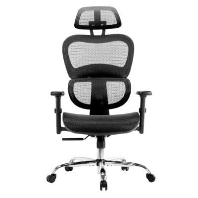 Black Ergonomic Office Chair Adjustable Armrest Lumbar Support Mesh Computer Chair