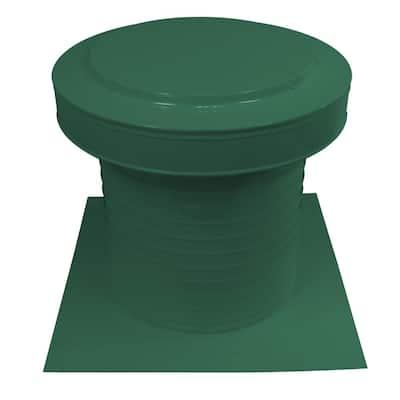 12 in. Dia Aluminum Static Keepa Vent in Green
