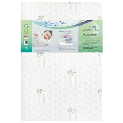 Aster White Cool Comfort Plus I Convoluted Gel Playard Mattress I Removable Cover I 3' Mattress