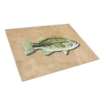 Small Mouth Bass Tempered Glass Large Cutting Board