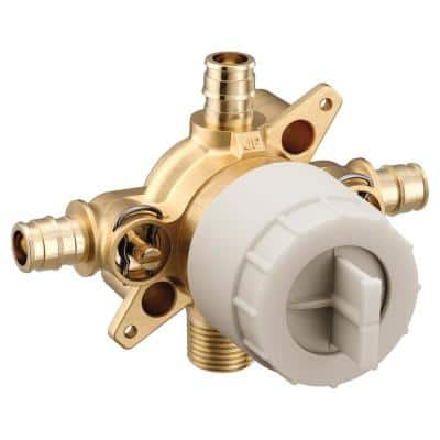 M-CORE 3-Series 1/2 in. 4 Port Tub and Shower Mixing Valve with Cold Expansion PEX Connections and Stops