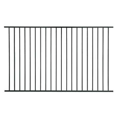 Pro Series 4.84 ft. H x 7.75 ft. W Black Steel Fence Panel