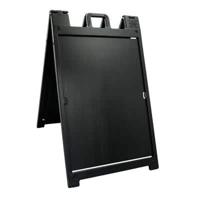 Deluxe Signicade Portable Folding Double Sided Sign Stand, Black