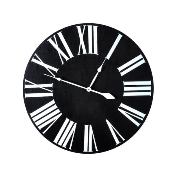 Brandtworks 18 In Oversized Ebony Farmhouse Wall Clock Ecc 018 The Home Depot