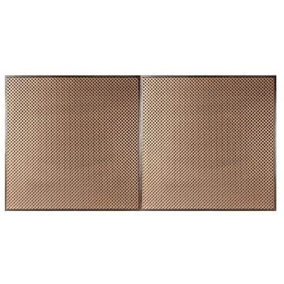 Kingsbridge 2 ft. x 4 ft. Lay-in or Glue-up Ceiling Tile in Antique Gold (80 sq. ft. / case)