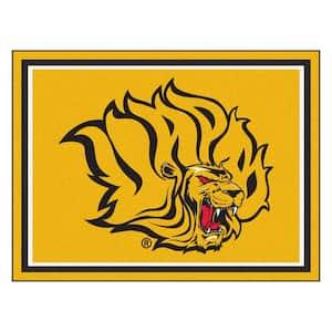NCAA University of Arkansas-Pine Bluff Gold 8 ft. x 10 ft. Indoor Area Rug