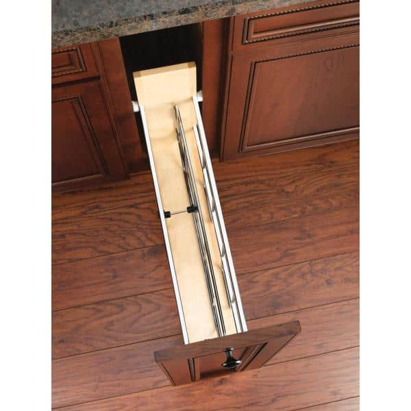 Rev A Shelf 5 In Kitchen Pull Out Tray Divider Cabinet Organizer 447 Bcsc 5c The Home Depot