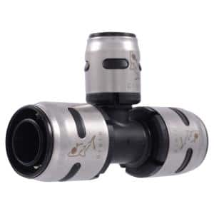 3/4 in. x 3/4 in. x 1/2 in. Push-to-Connect EVOPEX Plastic Reducing Tee Fitting (3-Pack)