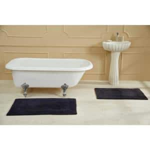 Racine Stone Wash Navy 24 in. x 40 in. 100% Cotton Bath Rug