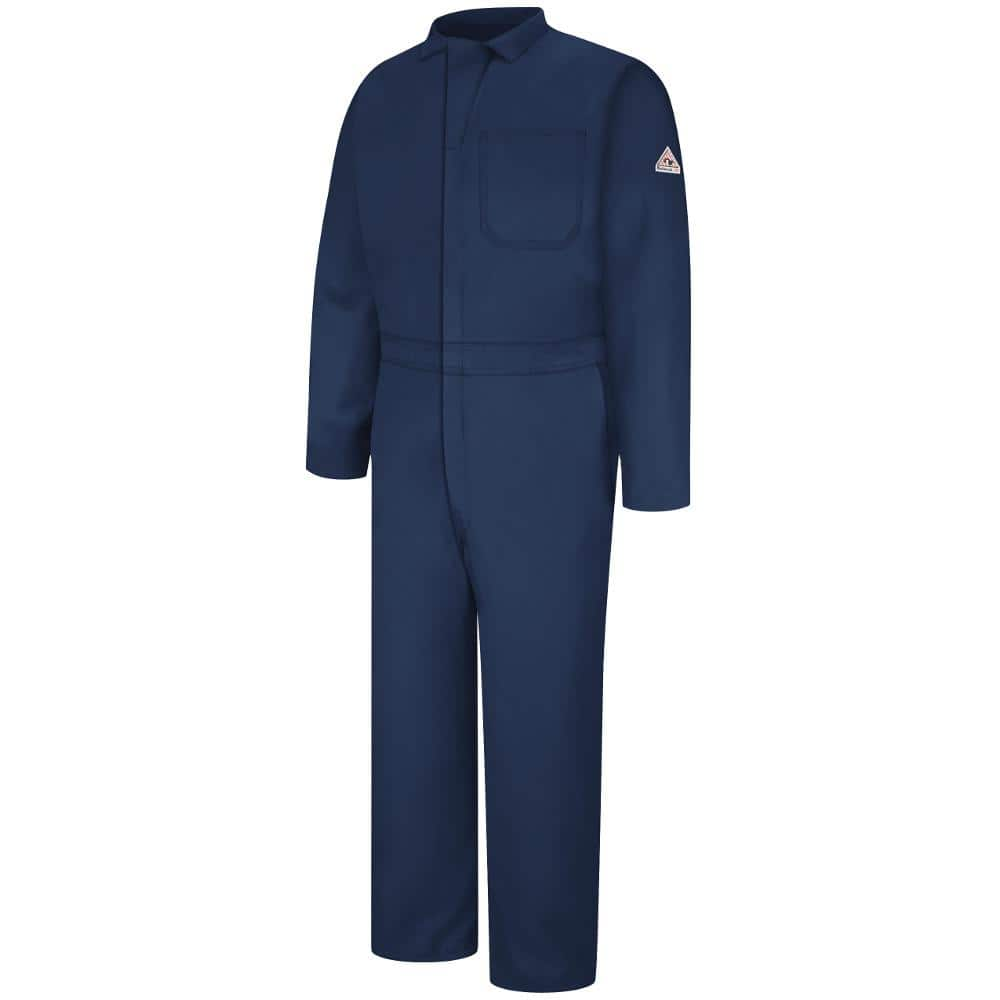 Bulwark Nomex Iiia Men S Size 52 Navy Classic Coverall Cnc2nv Rg 52 The Home Depot