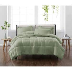 Solid Green Twin/Twin XL 2-Piece Comforter Set