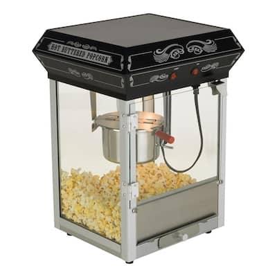 Carnival Style 4 oz. Black Countertop Popcorn Machine