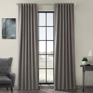 Neutral Grey Rod Pocket Blackout Curtain - 50 in. W x 108 in. L