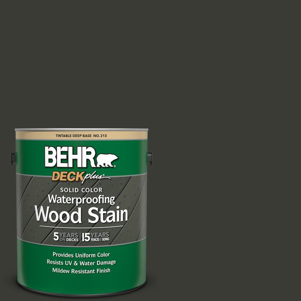 1 gal. #ECC-10-2 Jet Black Solid Color Waterproofing Exterior Wood Stain