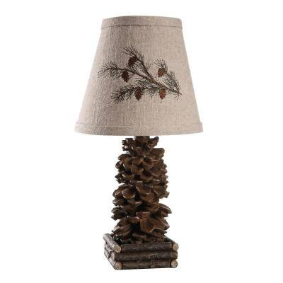 13 in. Brown Novelty Lamp