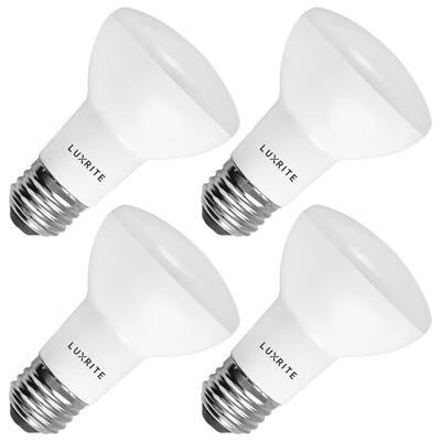 45-Watt Equivalent BR20 Dimmable LED Flood Light Bulb Damp Rated 3000K Soft White (4-Pack)