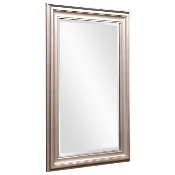 Marley Forrest Medium Rectangle Silver, 24 X 36 Brushed Nickel Vanity Mirror