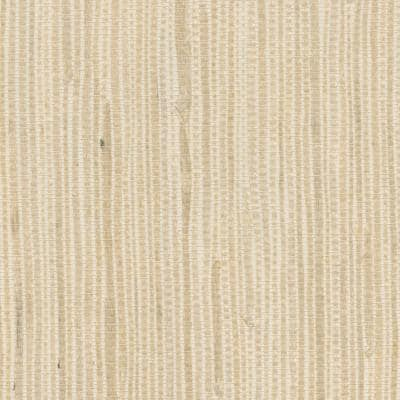 Kostya Cream Grasscloth Cream Wallpaper Sample