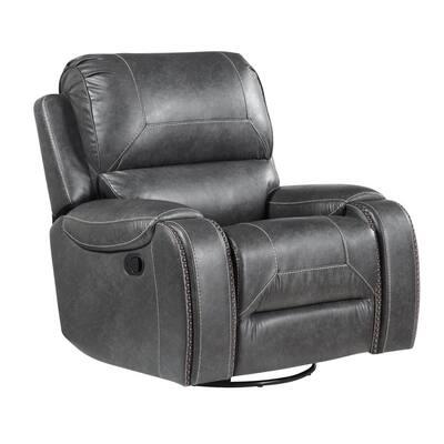 Keily Manual Swivel Glider Recliner Chair - Grey