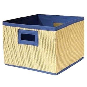 13 in. D x 8 in. H x 13 in. W Wheat Fabric Cube Storage Bin