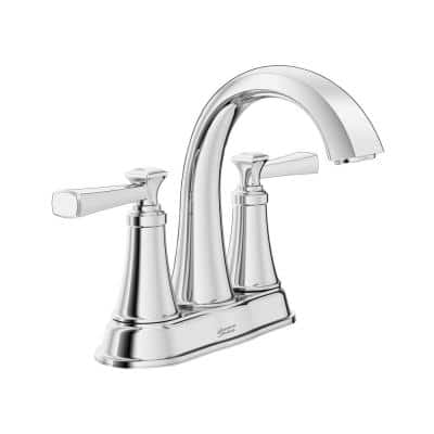 Rumson 4 in. Centerset 2-Handle Bathroom Faucet in Polished Chrome