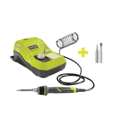 ONE+ 18V Hybrid Soldering Station (Tool-Only) with extra Fine Point and Chisel Point Soldering Tips