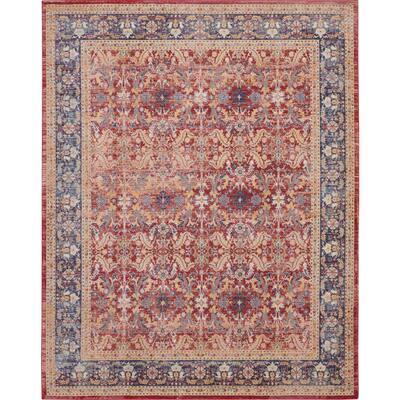 Global Vintage Red/Multicolor 9 ft. x 12 ft. Persian Vintage Area Rug