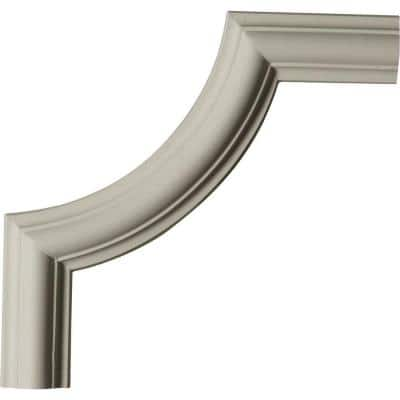 8-3/4 in. x 3/4 in. x 9 in. Urethane Ashford Panel Moulding Corner (Matches Moulding PML01X00AS)
