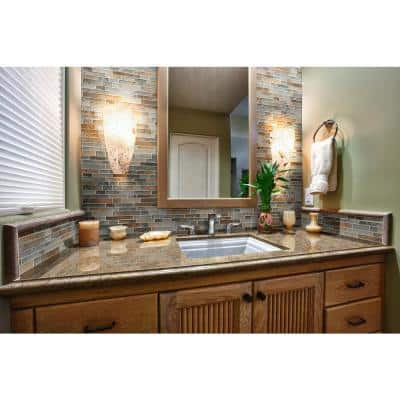 Autumn Light Interlocking 12 in. x 13 in. x 8 mm Glass Mesh-Mounted Mosaic Tile (10.4 sq. ft. / case)