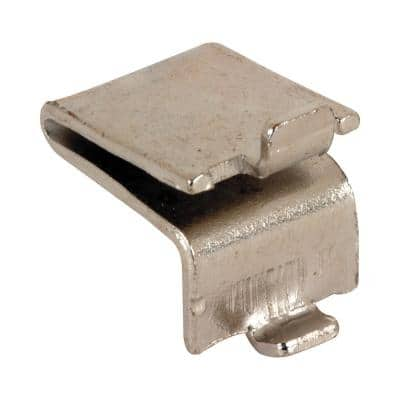 Nickel Plated Metal Strip Lock Style Shelf Bracket , Knape and Vogt (8-pack)