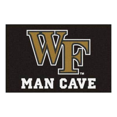 NCAA Wake Forest University Black Man Cave 2 ft. x 3 ft. Area Rug