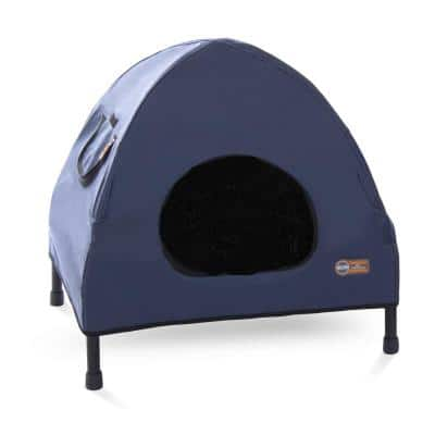 25 in. x 32 in. x 28 in. Medium Navy Blue Pet Cot House/Bed