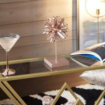 Sphere Copper Gold Small Table Dcor