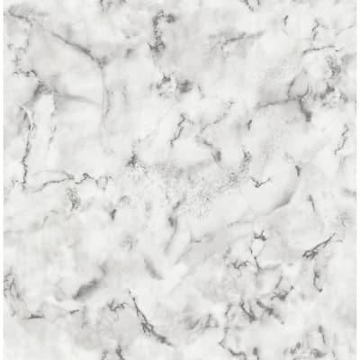 Notting Hill Light Grey Marble Light Grey Wallpaper Sample