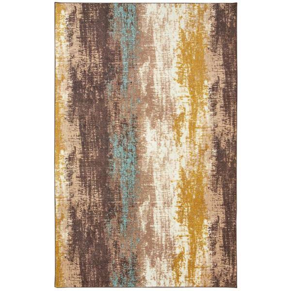 Mohawk Home Barton Brown 8 Ft X 10 Ft Abstract Area Rug 047106 The Home Depot