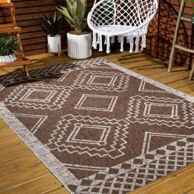 Moroccan Brown Area Rugs Rugs The Home Depot