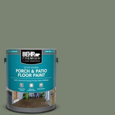 1 gal. #ICC-77 Sage Green Gloss Enamel Interior/Exterior Porch and Patio Floor Paint