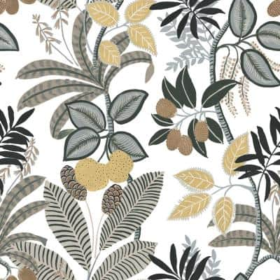 White and Yellow Funky Jungle Peel and Stick Wallpaper (Covers 28.29 sq. ft.)