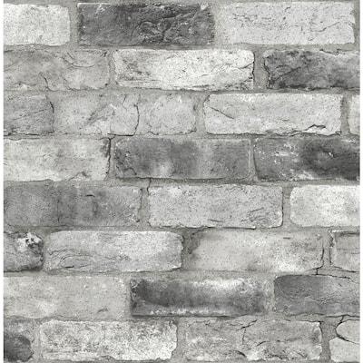 Greys Vinyl Peel & Stick Washable Wallpaper Roll (Covers 30.75 Sq. Ft.)