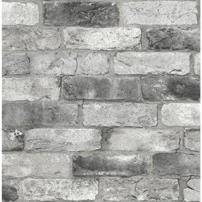 Grey London Brick Grey Wallpaper Sample