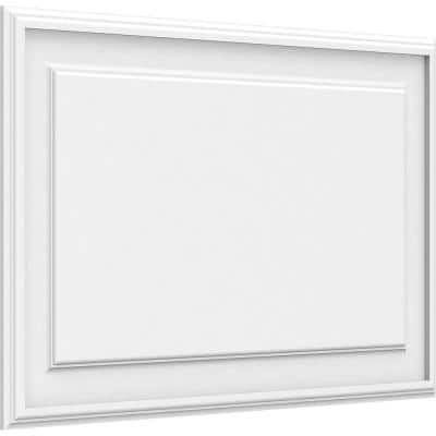 5/8 in. x 2-2/3 ft. x 2 ft. Legacy Raised Panel White PVC Decorative Wall Panel